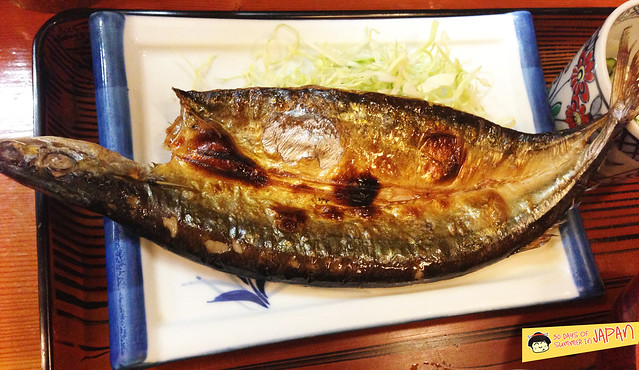 broiled mackerel - local lunch by origami museum 2