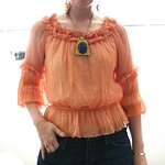 sheer orange blouse from tag sale in Woodbury