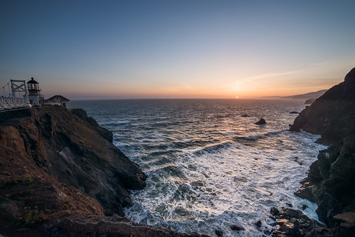 sanfrancisco california sunset sun lighthouse landscape photography coast photo nikon day clear photograph bayarea ultrawide marinheadlands pointbonita samyang kevinmacleod nikond800 samyang14mm d800e nikond800e unrangedcom