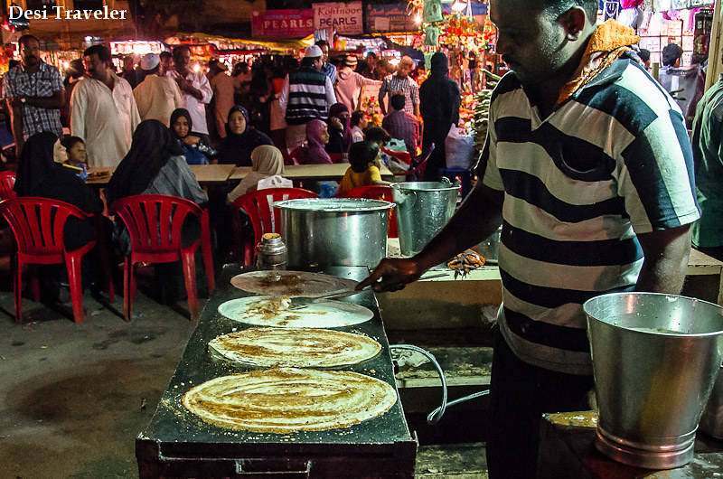 Dosa making at Ramazan Night market Charminar Ramzan Food Walk