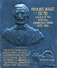 Photo of Nikolaus Otto black plaque