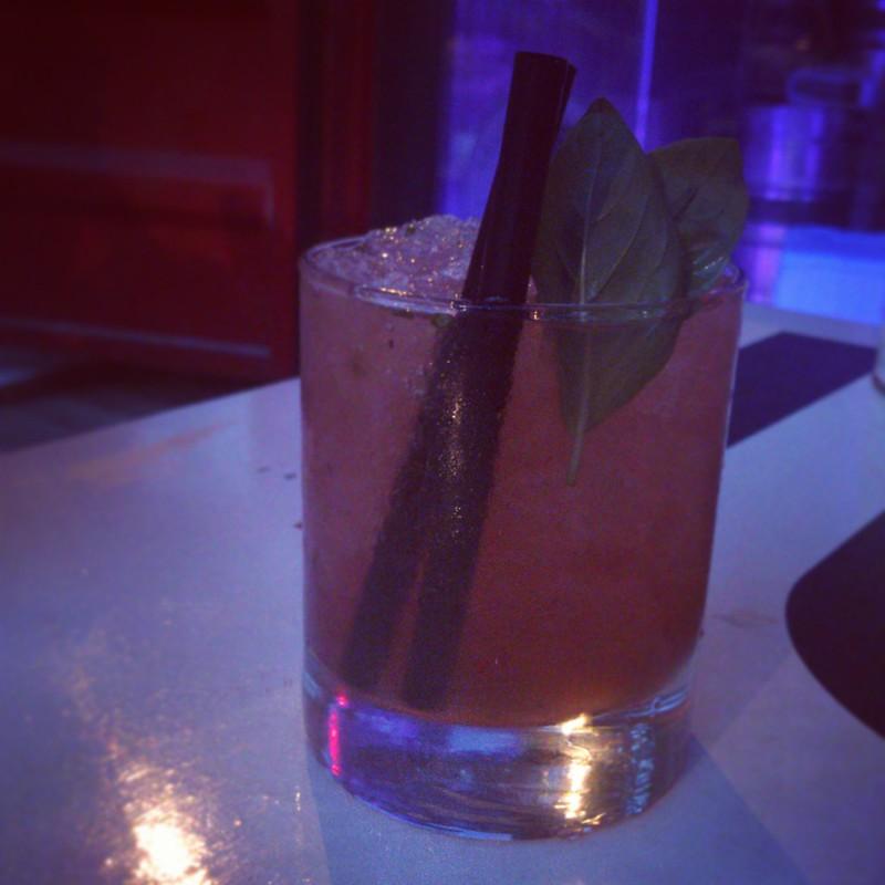 basil bramble: gin, blackberry liquor with basil & lemon. #zp