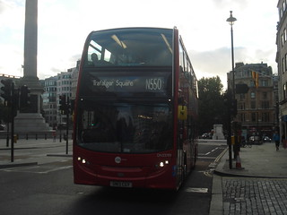Tower Transit DN33789 on Route N550, Trafalgar Square