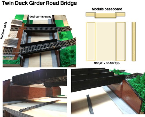 WIP Lego Girder Road Bridge