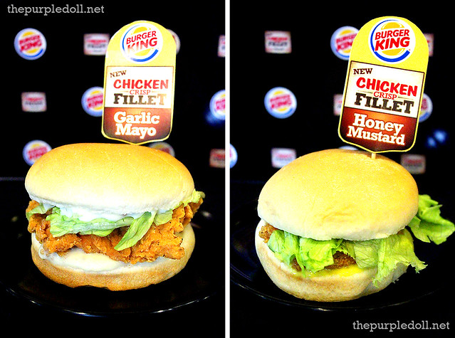 Burger King Chicken Crisp Fillet Sandwich Zesty Garlic and Honey Mustard