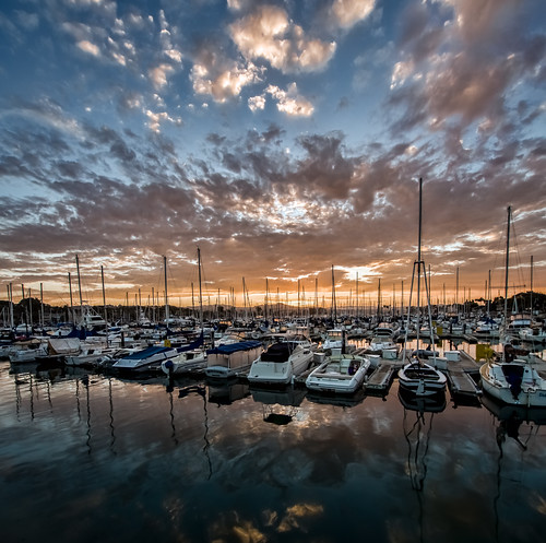 water clouds marina sunrise boats calm danapoint hdr topaz lightroom vertorama