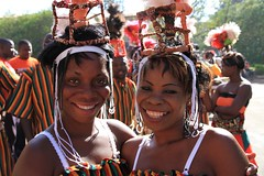 Zambian women in traditional dress