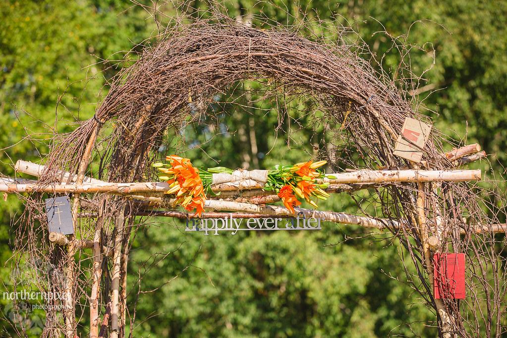 Homemade Wedding Archway
