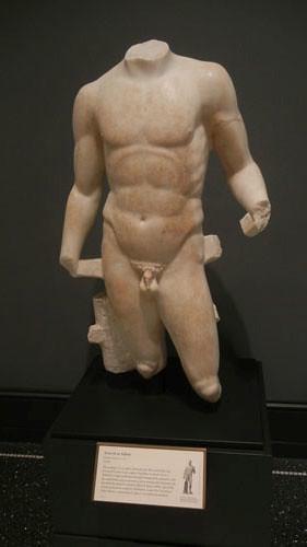 DSCN7528 _ Torso of an Athlete, Roman, c. A.D 100, Getty Villa, July 2013