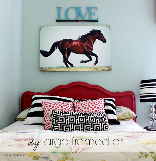 Hi Sugarplum | DIY Large Framed Art