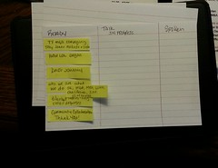 Notes for a talk - Note card Personal Kanban