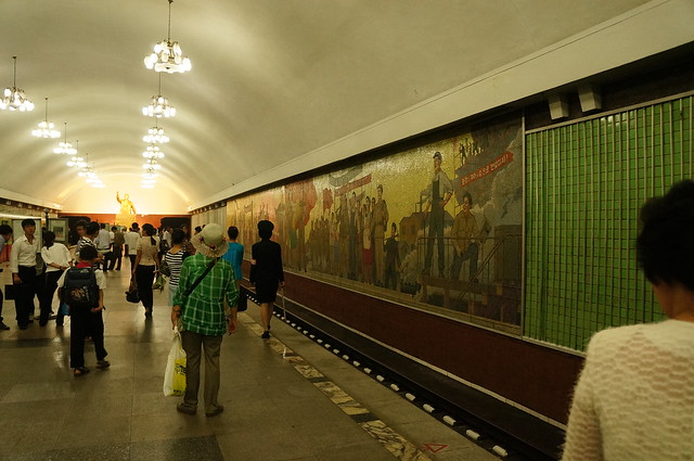 Kaeson Subway Stop of Pyongyang Metro