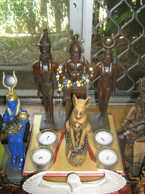 Netjeru Shrine - The Holy Family, and Bast-Mut