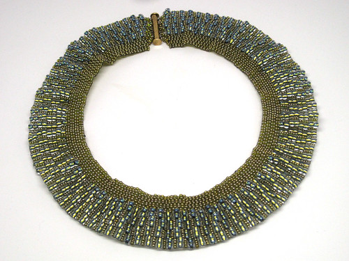 Blue and Green collar necklace