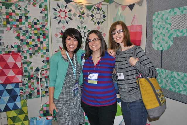 Vanessa Christenson, me and Alyssa of Pile O' Fabric