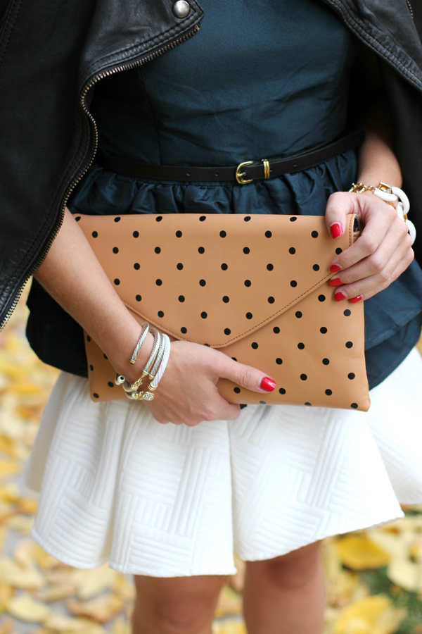 J.Crew Polka Dot Invitation Clutch