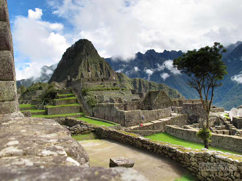 Standing strong and silent to the north of Machu Picchu is the mountain 'Huayna Picchu'.
