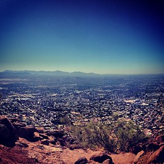An amazing view of #Phoenix from Camelback Mountain.