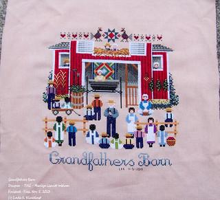 100_8940 - Grandfathers Barn - Designer - TIAG - Marilyn Leavitt Imblum - Finished - Tues Nov. 5, 2013