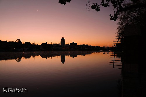 pink sunrise river illinois glow silhouettes foxriver stcharles