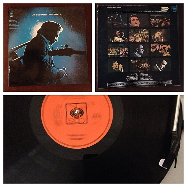 161113_ #np Jonny Cash Live In San Quentin #vinyl
