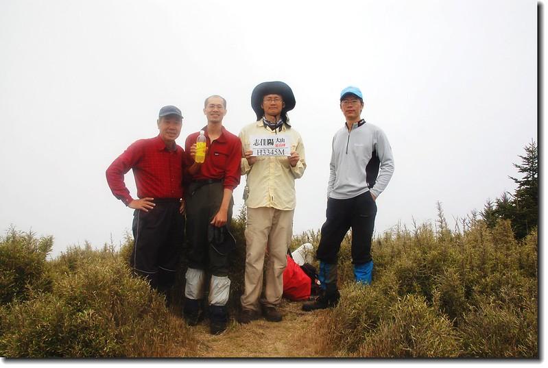志佳陽大山最高峰(Elev. 3345 m)