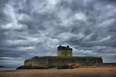 Moody Gothic Sky over Broughty Ferry Castle by Dundee Scotland  |Facebook |Twitter|...