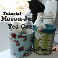 Majon Jar Tea Cozy Tutorial by WaterPenny for Modabakeshop.com