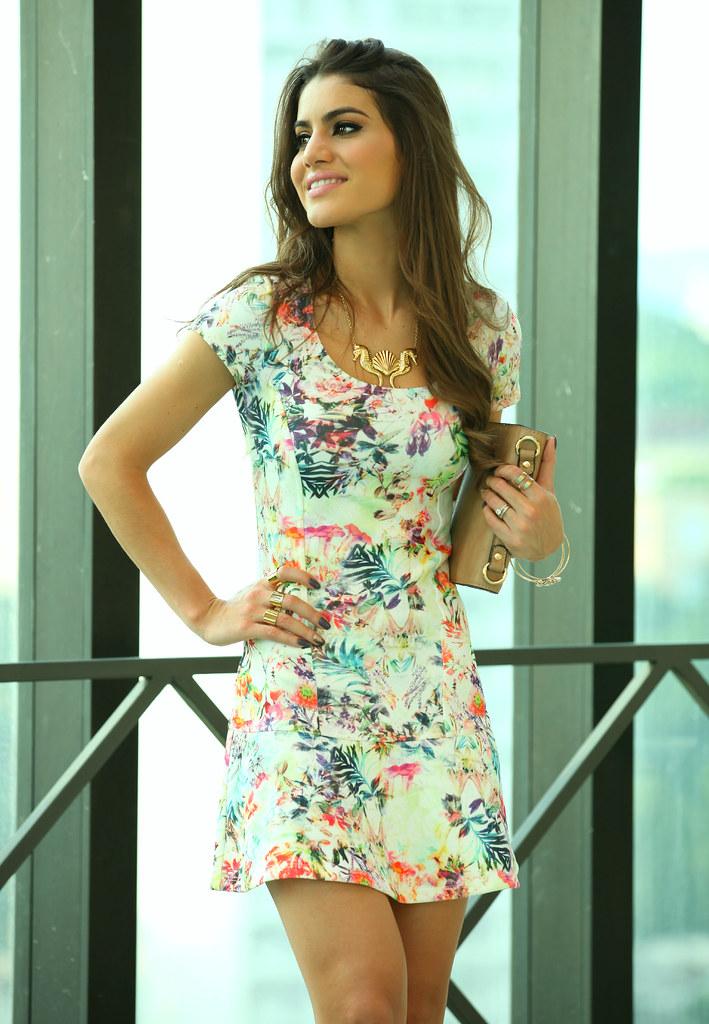 8057945ffb Super Vaidosa Look do Dia  Floral Dress - Super Vaidosa