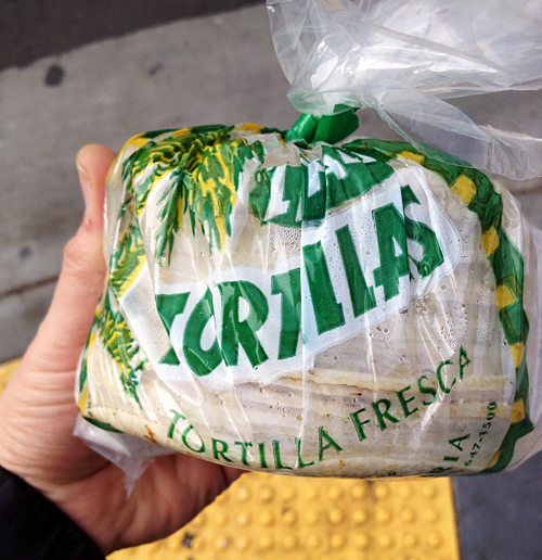 Fresh tortillas from La Palma