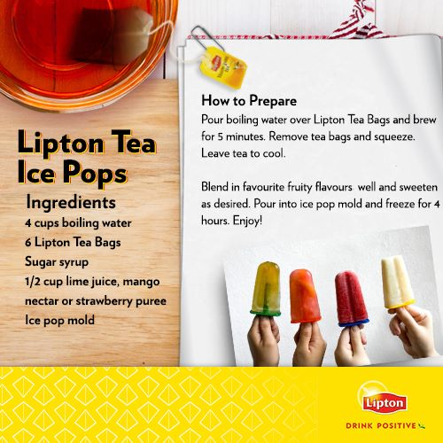 Lipton Tea ice pops