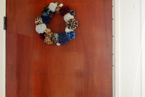 Pom pom wreath project!