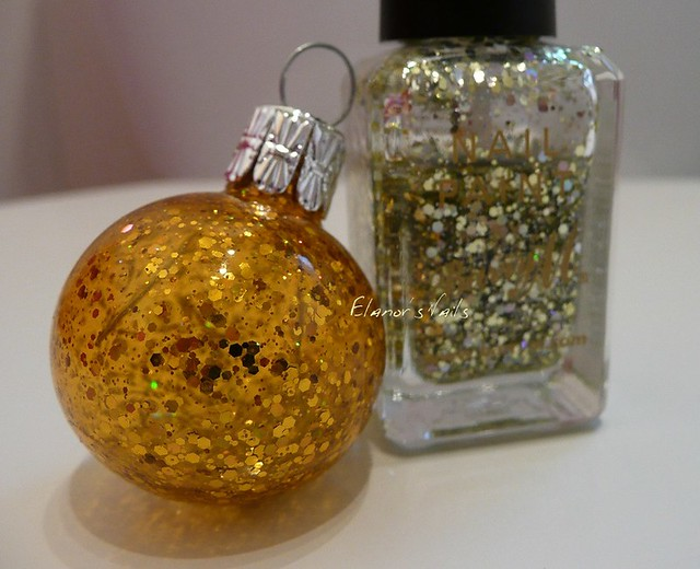 nail varnish baubles yellow topaz glitter