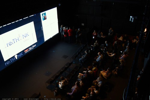 Audience in the Black Box Virtual Room   TEDxSanDiego 2013