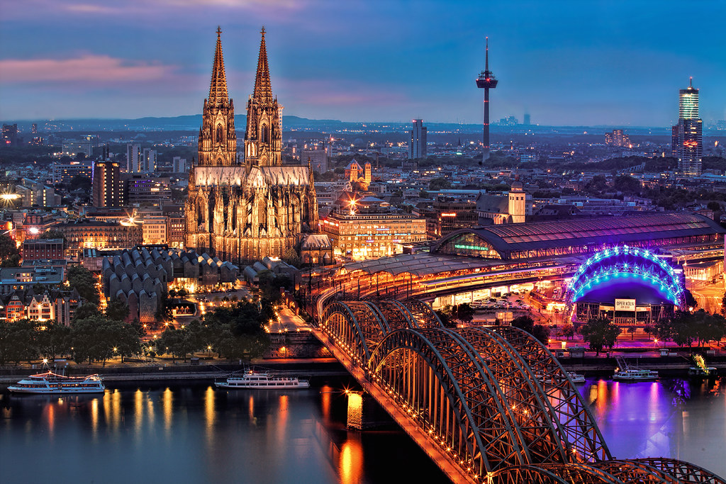 Bank of the Rhine with Cologne Cathedral