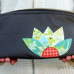 Triangular Makeup Pouch