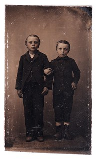 tintype: creepy brothers