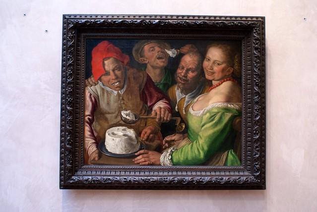 Qui veut manger du fromage peinture du musée des Beaux-Arts a Lyon