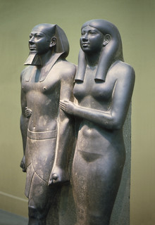 King Menkaure (Mycerinus) and his Queen, Kha-merer-nebty II