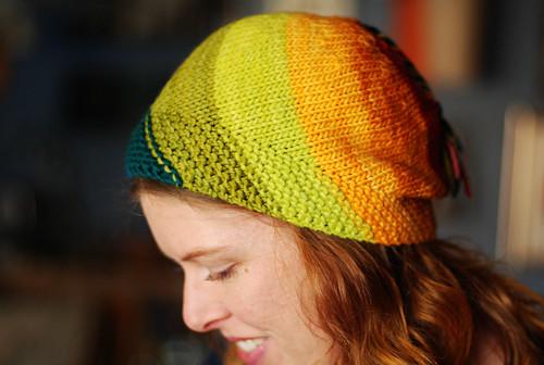 Rainbow Spiral Hat!
