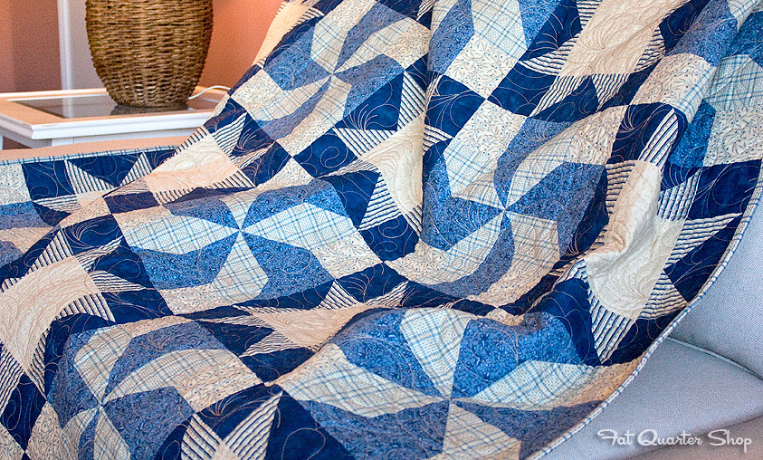 Blueberry Swirl quilt pattern by Jocelyn Ueng in Easy Quilts Magazine