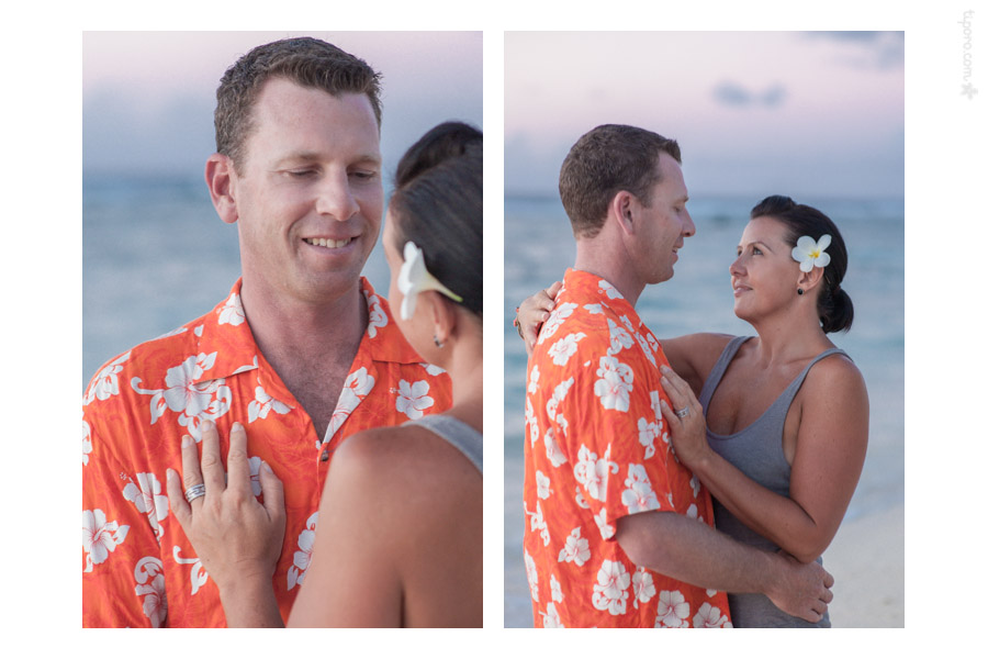 The Look. couple portraits Rarotonga, engagement photo shoot