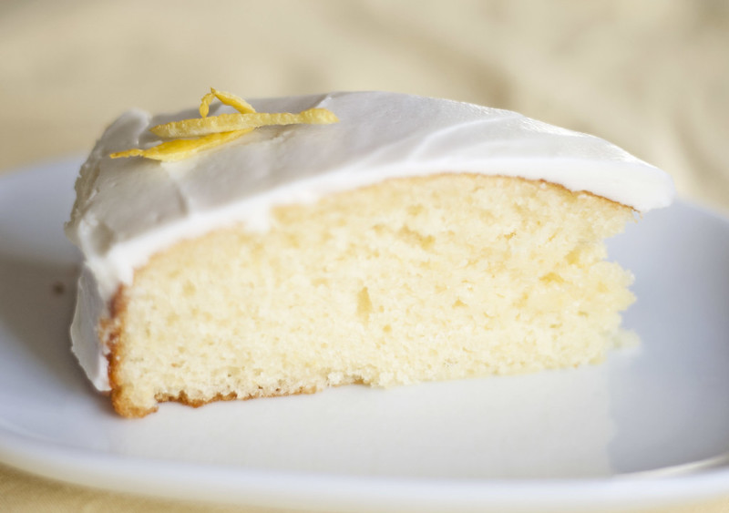 lemony yogurt cake with lemon frosting