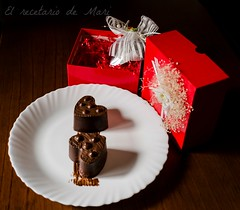 corazón de chocolate relleno de gelatina