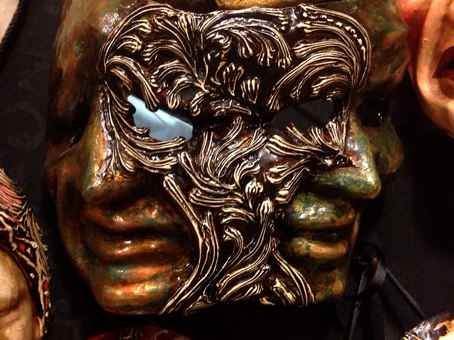 Carnival mask in shop window, Venice
