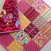 Love Me Do, Modern Baby Quilt by Mama Roux