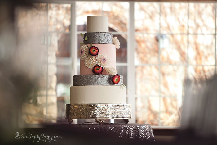edible-sequins-gumpaste-flowers-wedding-cake