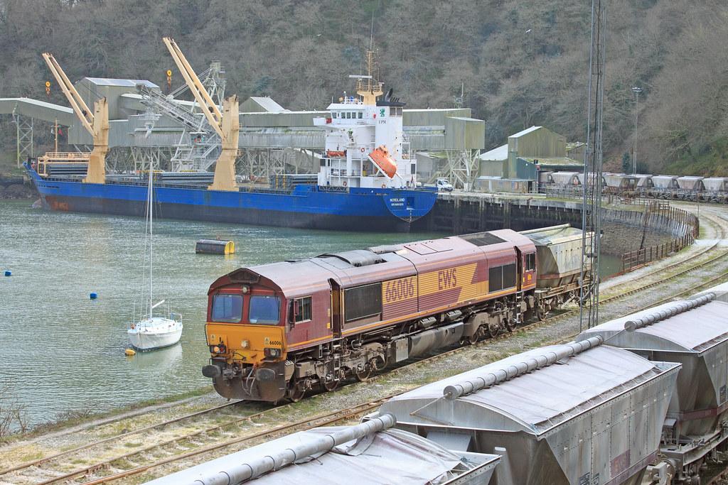 66006 - Carne Point, Fowey Docks.