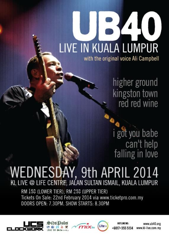 UB40 konsert kl live