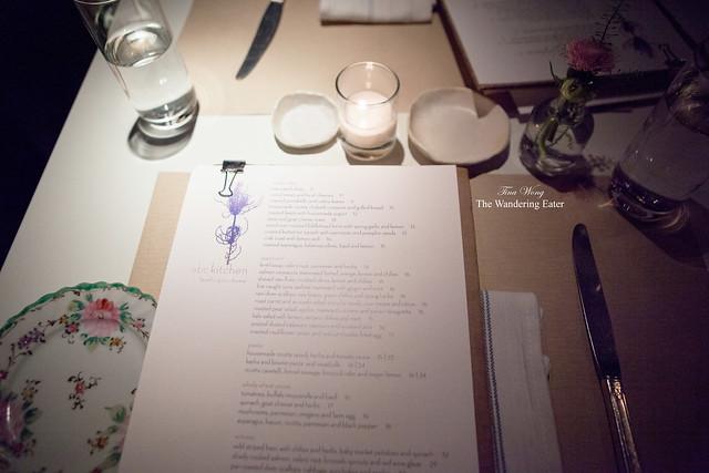 Table setting & menus